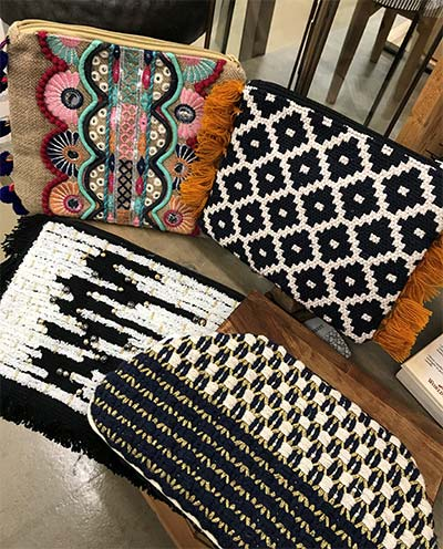 A baby step into the world of pattern handbags is to start with a black & white pattern.